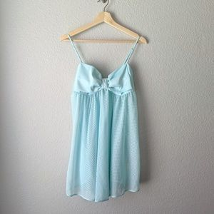 Kate Spade Blue Sheer Dot Chemise Nightgown